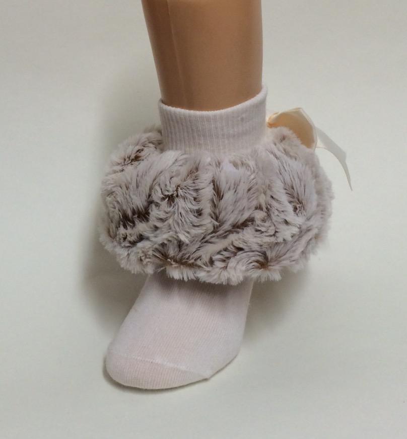 Fur Cuff All Ruffled Up Socks