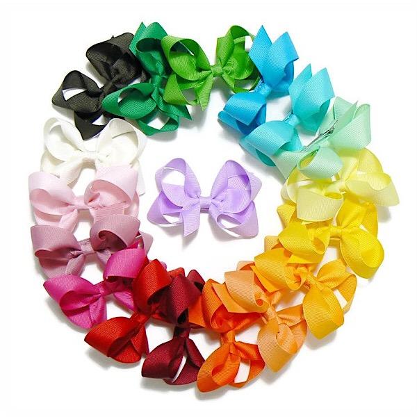 Medium Boutique Hair Bows, Various Colours