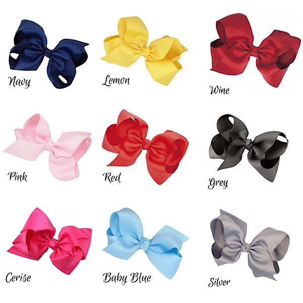 Large Boutique Hair Bows, Various Colours