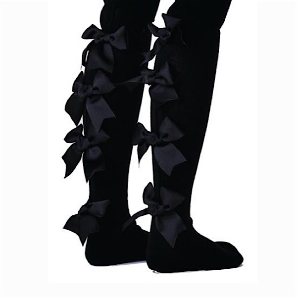 All Ruffled Up Bow Tights, Black