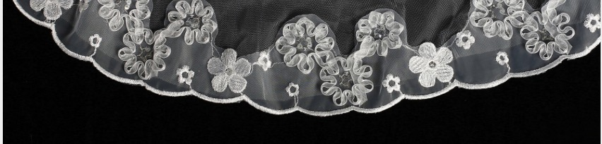 Sequin Flower Holy Communion Veil