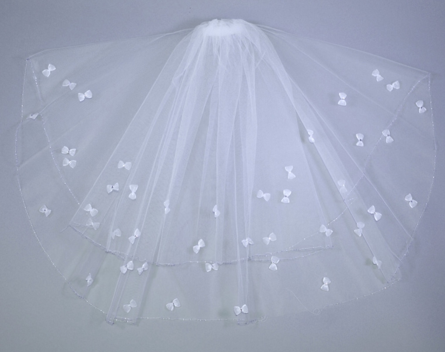 Diamonte Bow Holy Communion Veil.