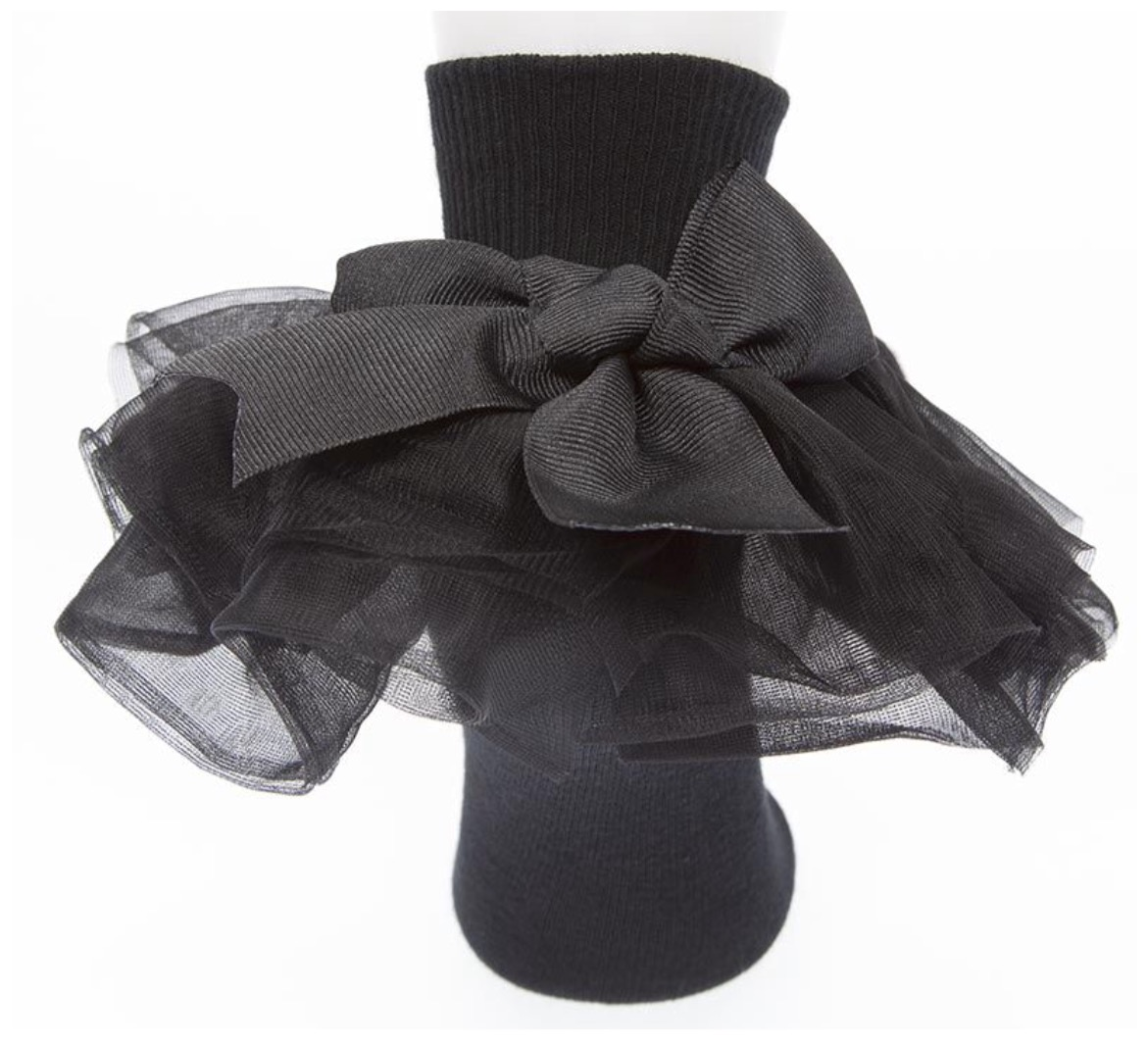 Willow, All Ruffled Up Socks, Black