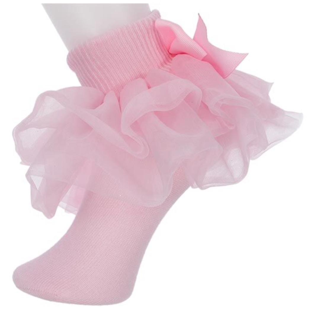 Willow, All Ruffled Up Socks, Pink – Bobbyann Ruffled Socks