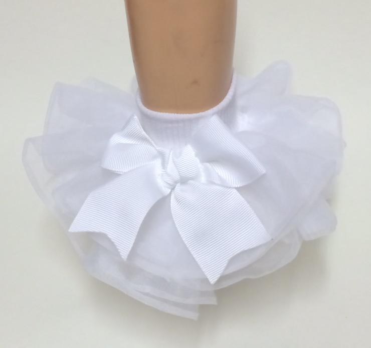 Willow, All Ruffled Up Socks, White