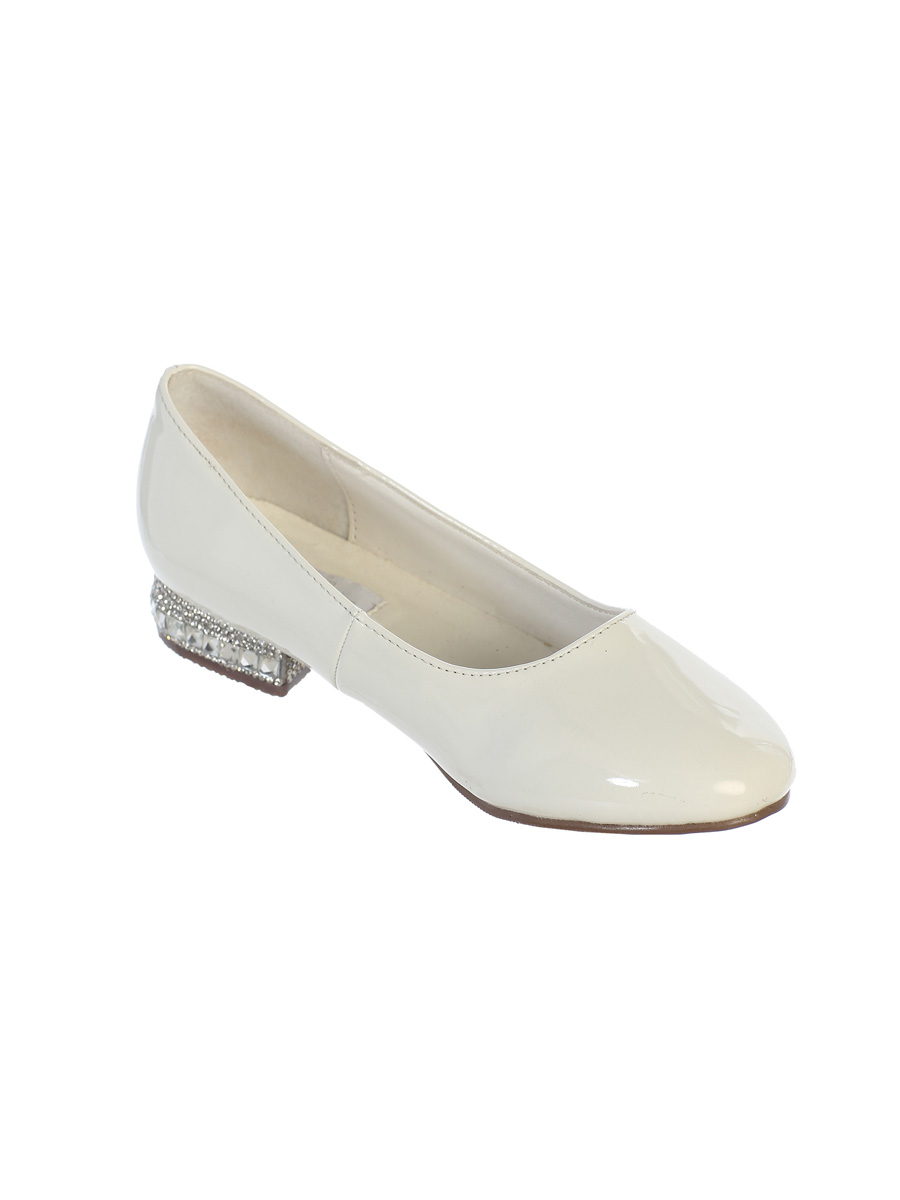 Crystal Heel Occasion Shoes, White