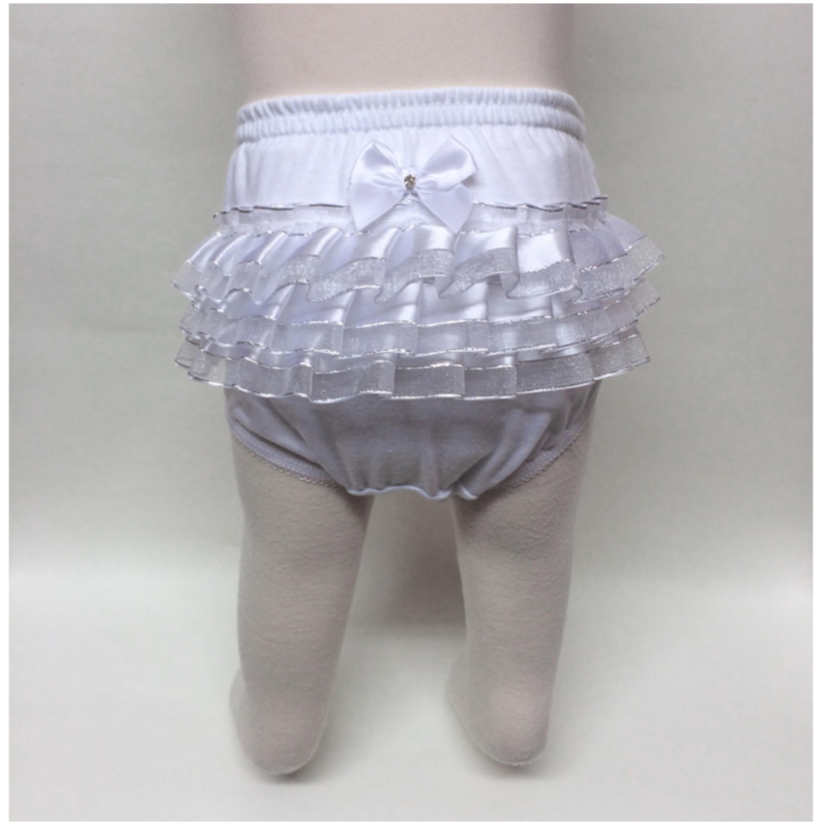 Organza ruffle frill pants
