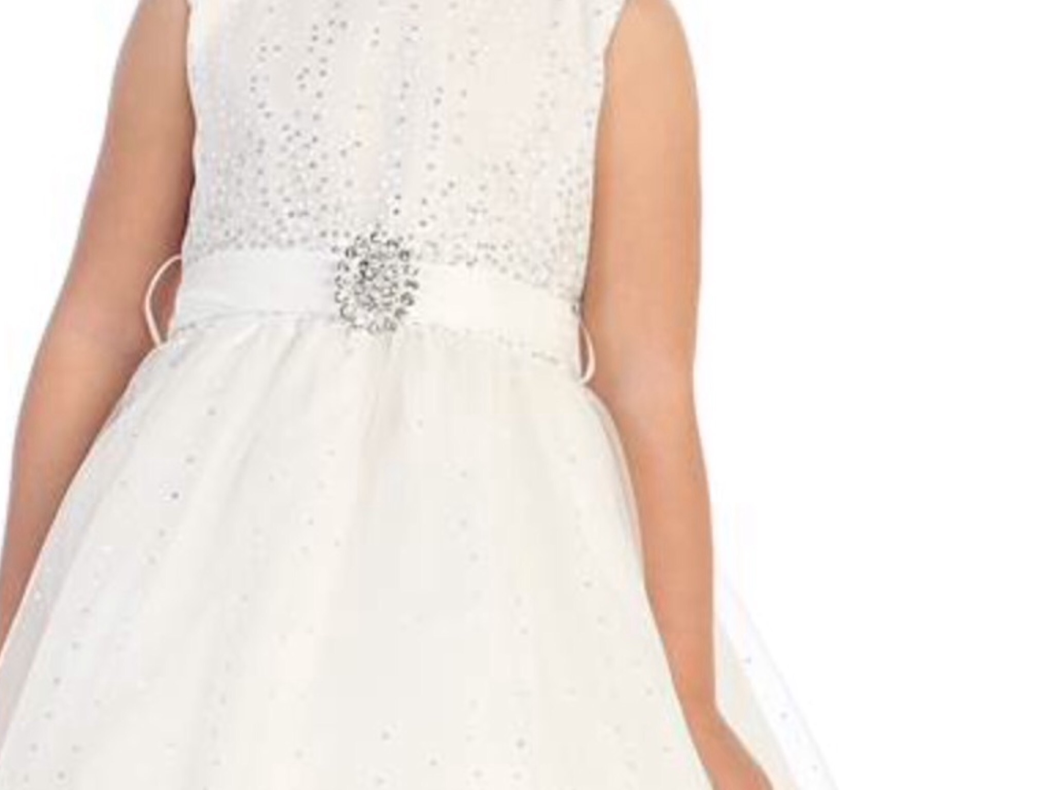 Ivory Diamonte Broach Dress