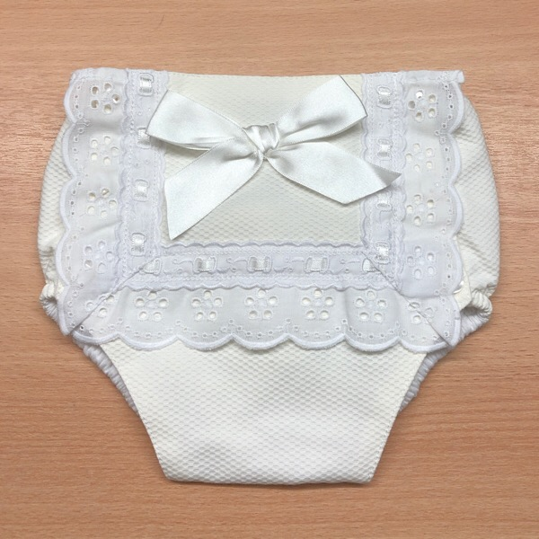 Cream Ribbon Bow Jam Pants