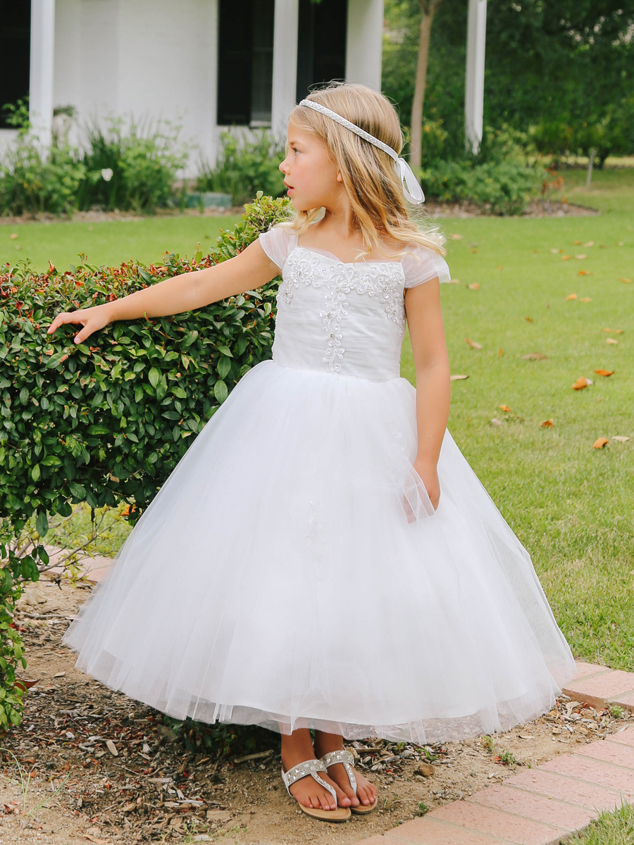 Tulle off the shoulder dress