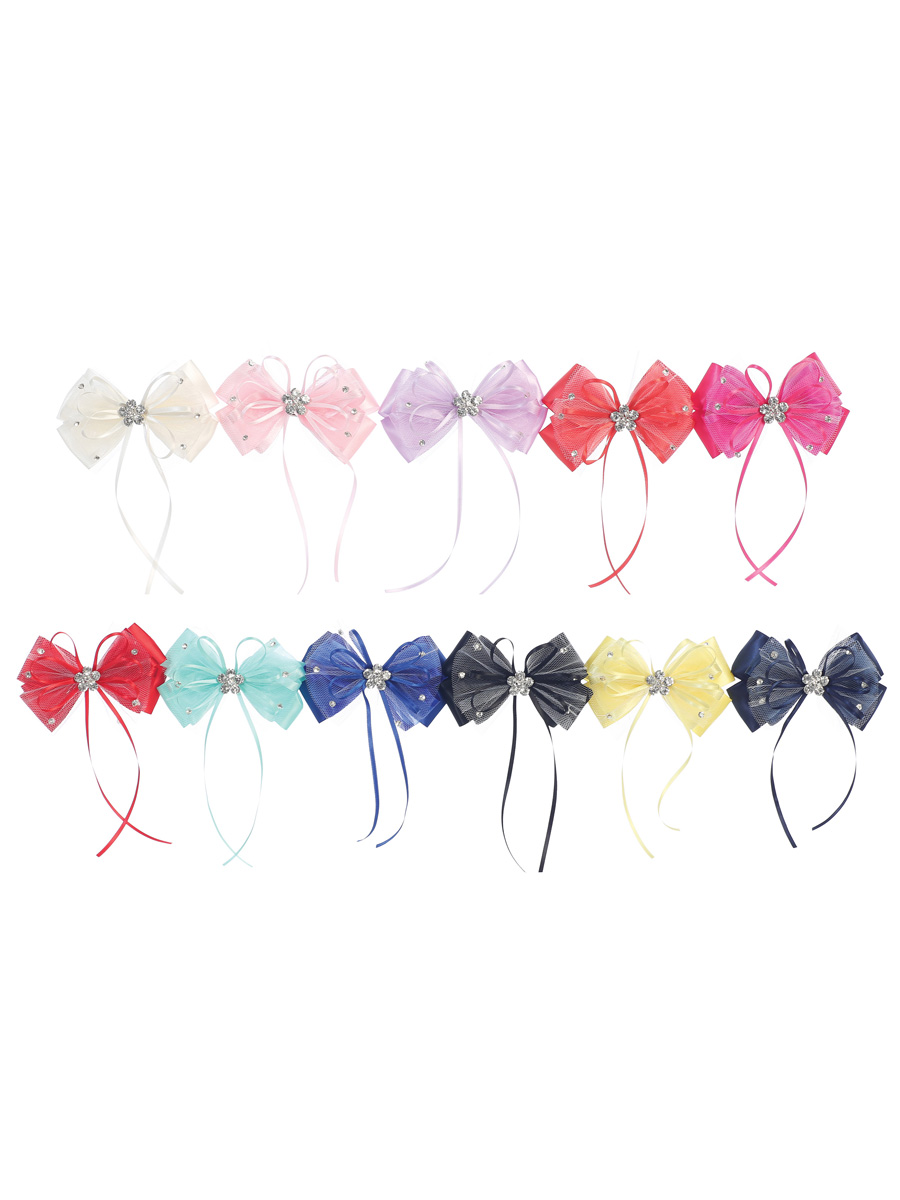 Satin Bow Hair Clip, Various Colours