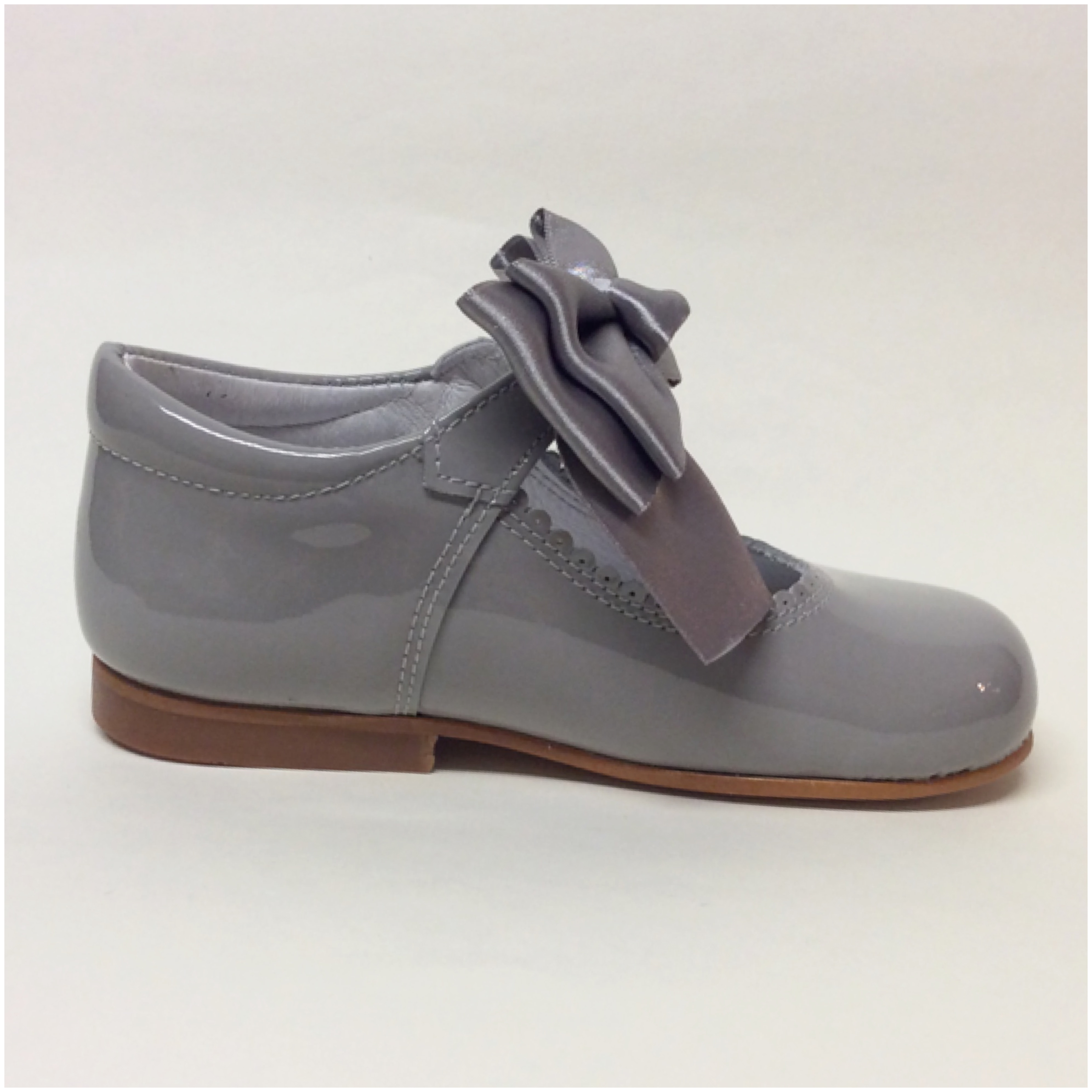 Chantelle Maryjanes With Bow Or Fur, Grey