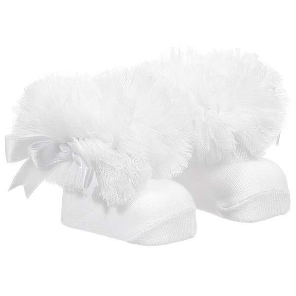 Couche Tot Tutu Ankle Socks, White