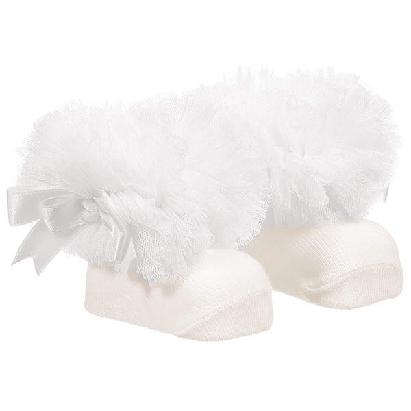 Couche Tot Tutu Ankle Socks, Ivory