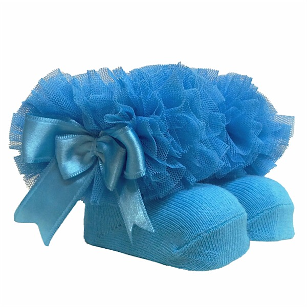 Couche Tot Tutu Ankle Socks, Turquoise