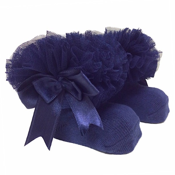 Couche Tot Tutu Ankle Socks, Navy