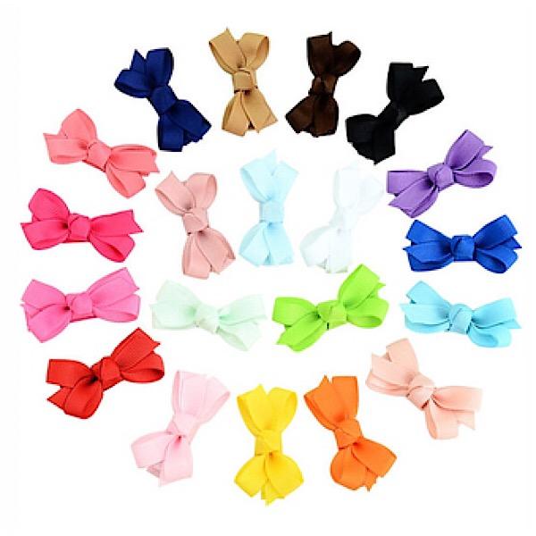 Mini Boutique Hair Bows, Various Colours