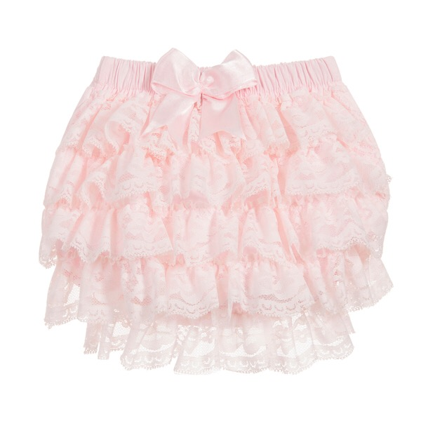 Couche Tot Lace Frill Knickers, Pink