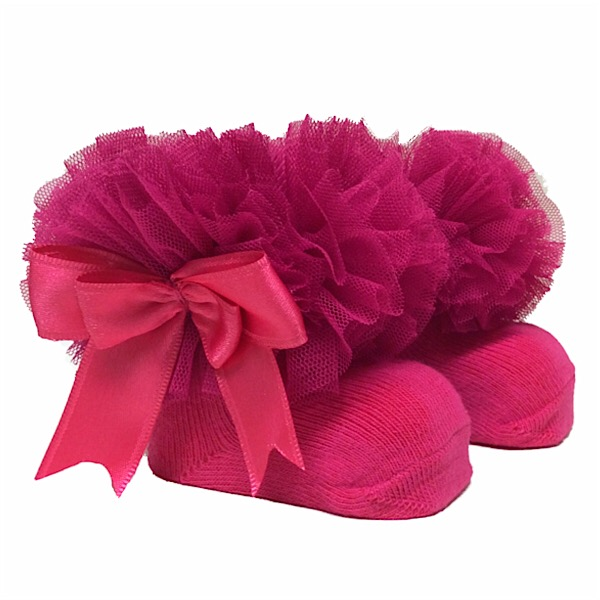 Couche Tot Tutu Ankle Socks, Cerise Pink