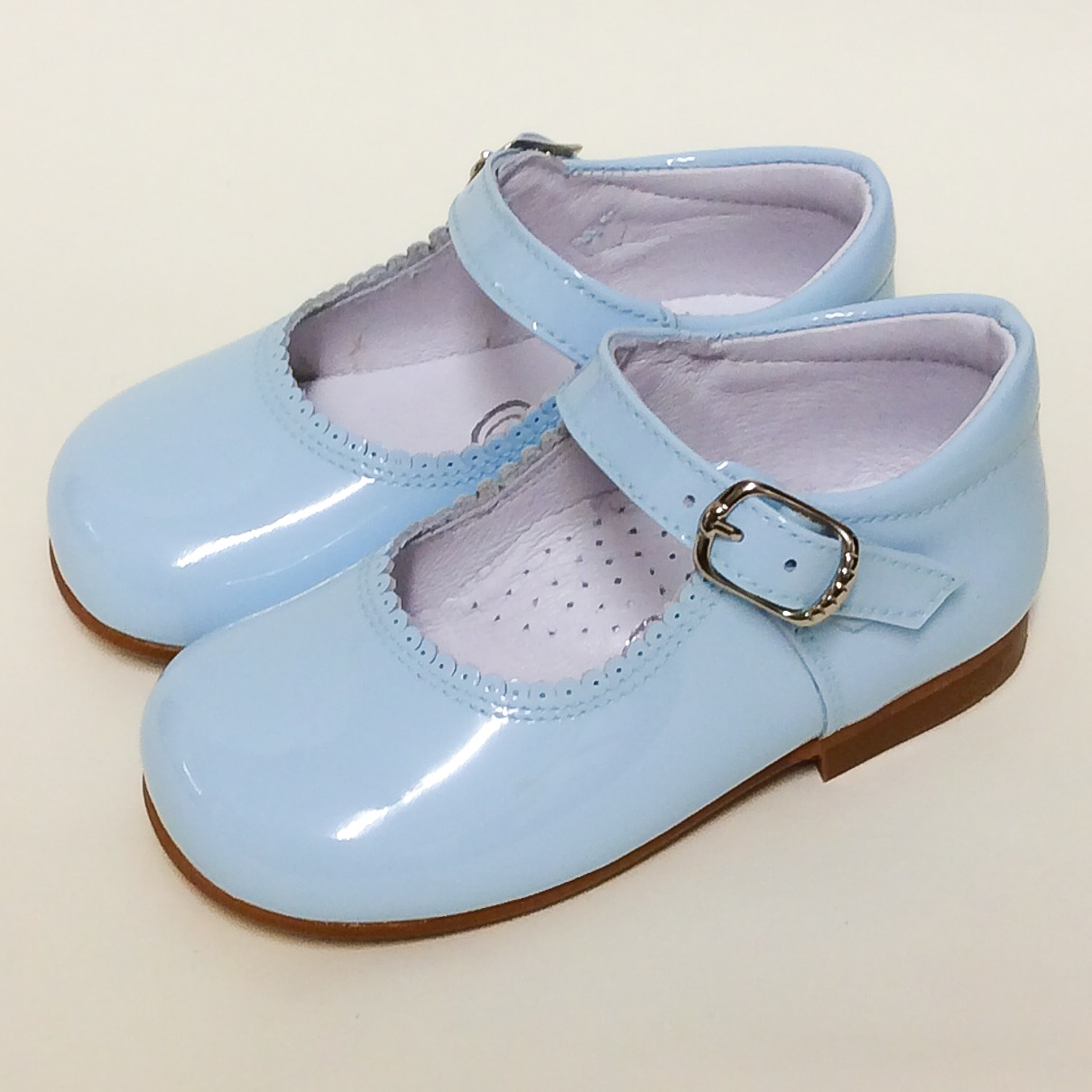 Chantelle Satin Bow Maryjanes, Baby Blue