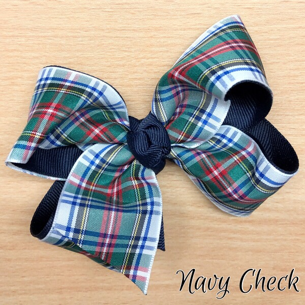 Medium Boutique Hair Bows, Tartan