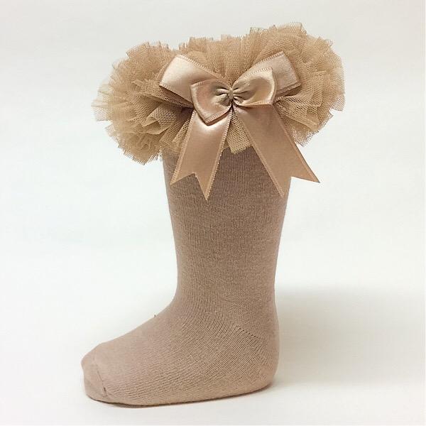 Couche Tot Knee High Tutu Socks, Camel
