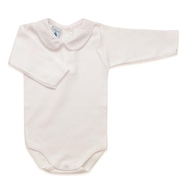 Babidu Long Sleeve Peter Pan Collar Vest, Cream