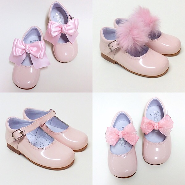 Bambi Maryjanes With Bow Or Fur, Pink