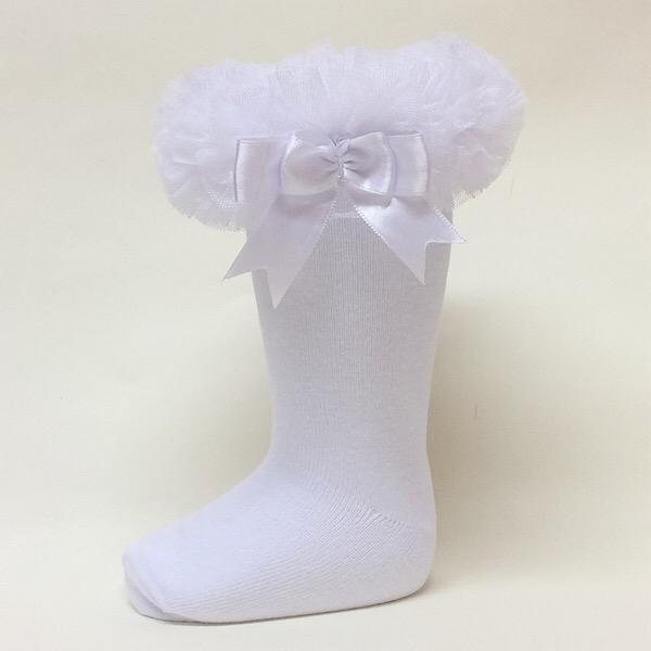Couche Tot Knee High Tutu Socks, White