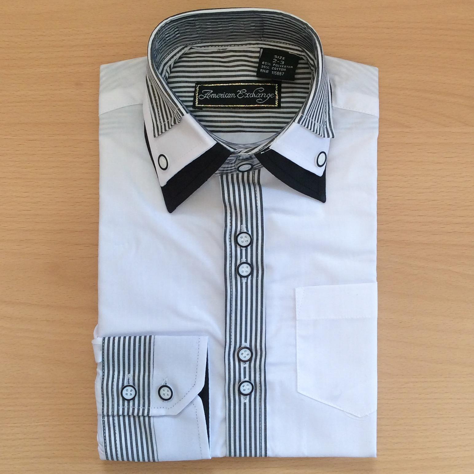 Black & White Stripe Dress Shirt