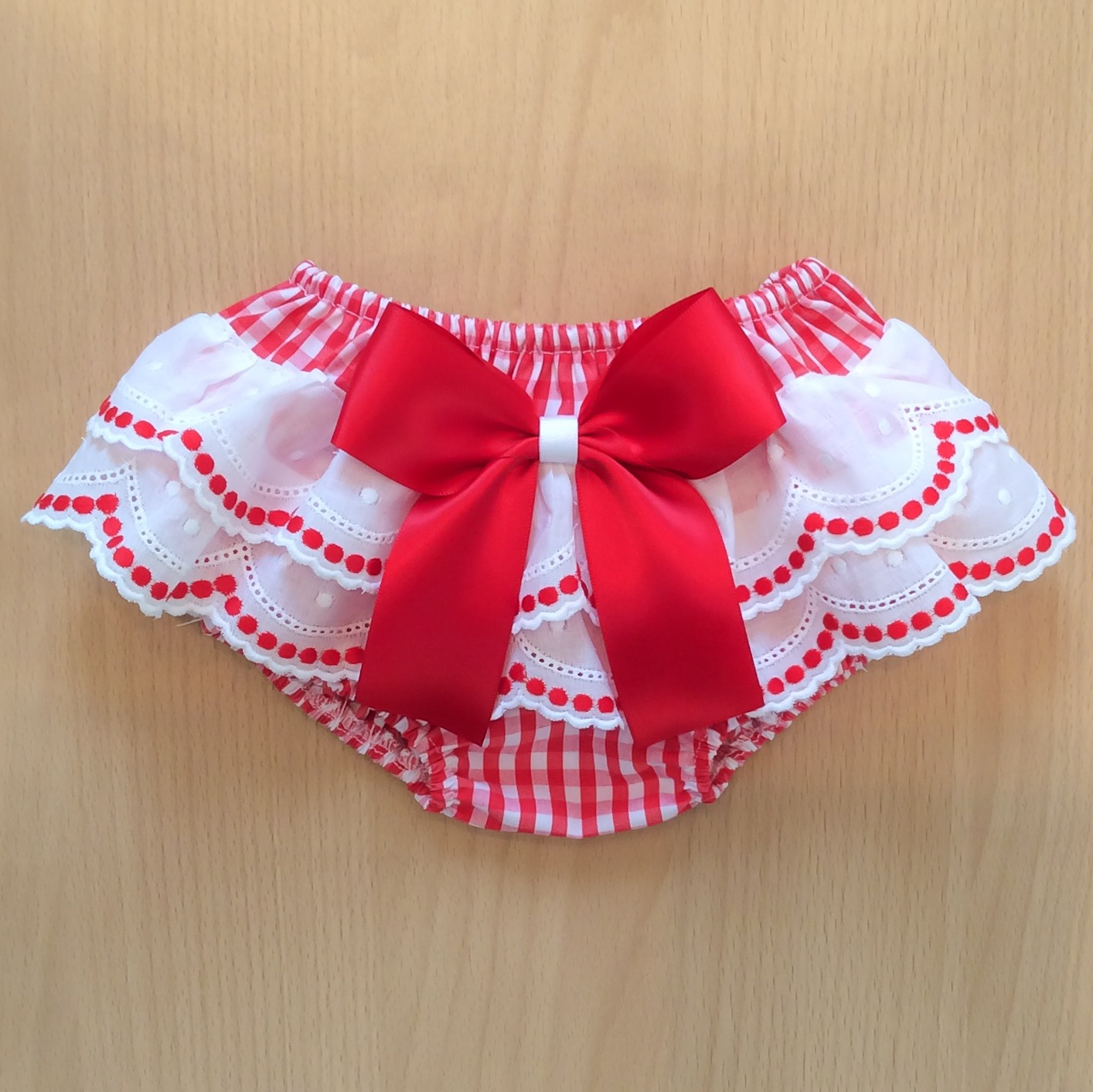 Red & White Gingham Knickers