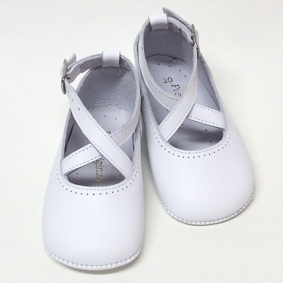 Pretty Originals Pram Shoes, White