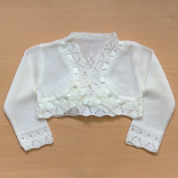 Ceyber Bow Bolero, Cream
