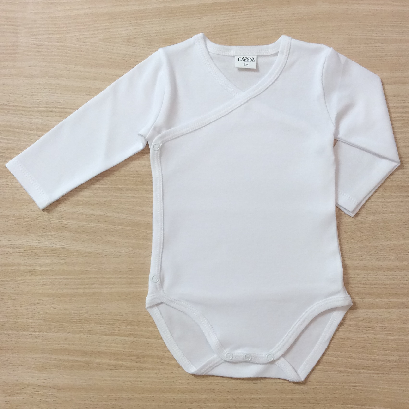 Isabella White Wrap Over Bodysuit