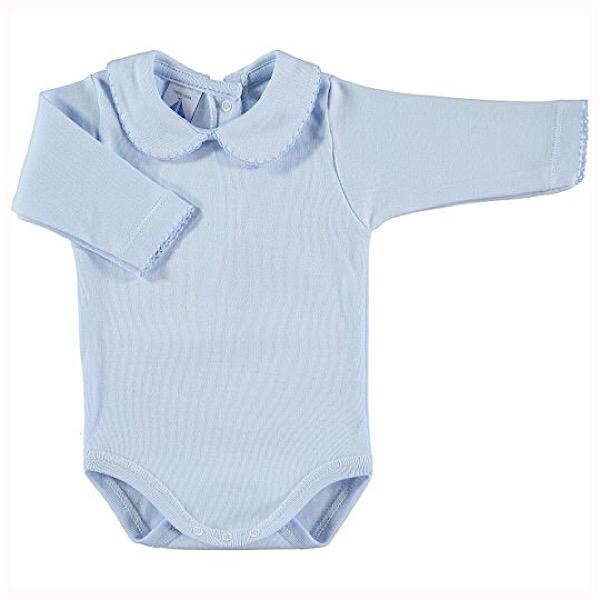 Babidu Long Sleeve Peter Pan Collar Vest, All Blue