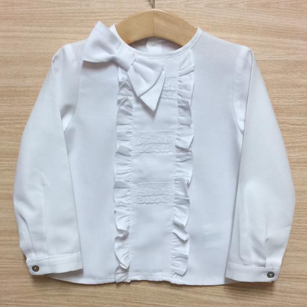 Kiriki White Lace Bow Blouse