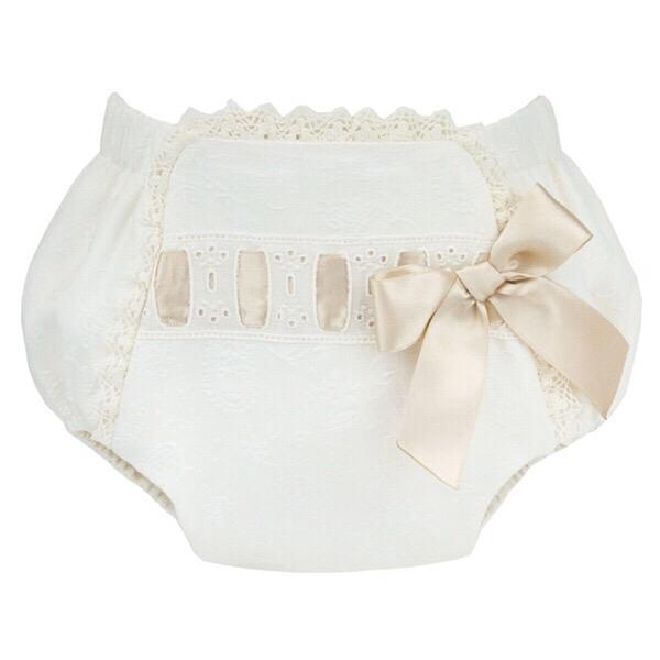 Kiriki Ribbon Jam Pants, Cream