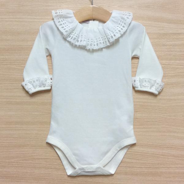 Phi Clothing Cream Broderie Frill Bodysuit