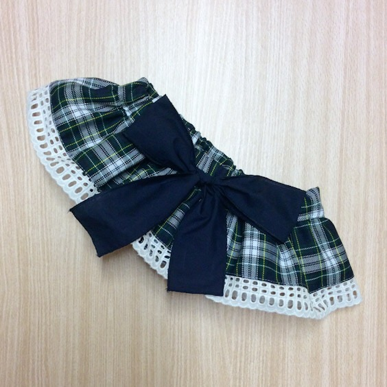 Phi Clothing Navy Tartan Bloomers