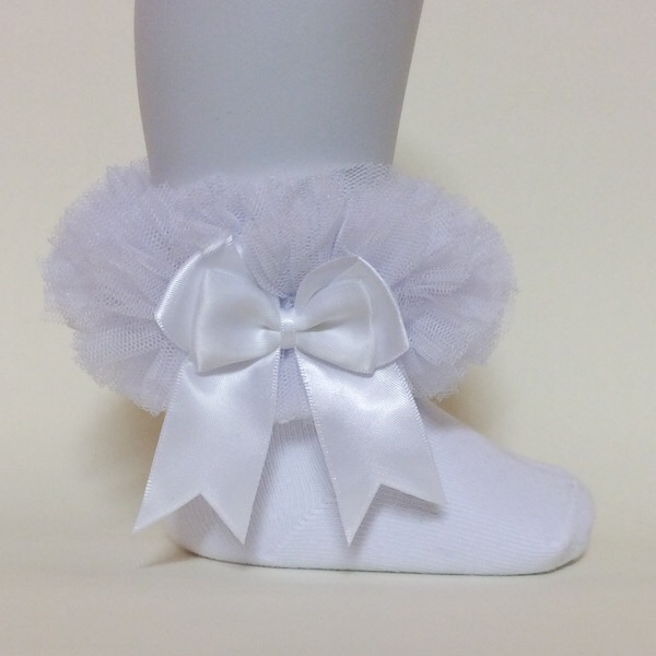 Mintini Tutu Ankle Socks, White