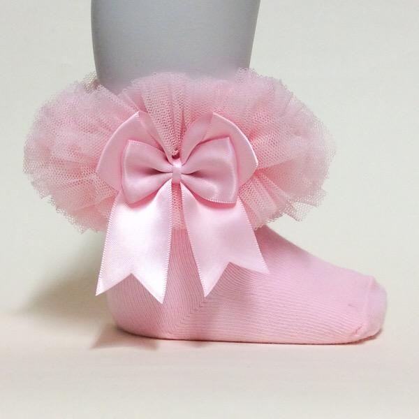 Mintini Tutu Ankle Socks, Pink