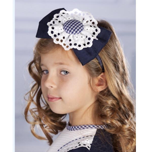 Petit Bebe Sukara Navy & White Headband