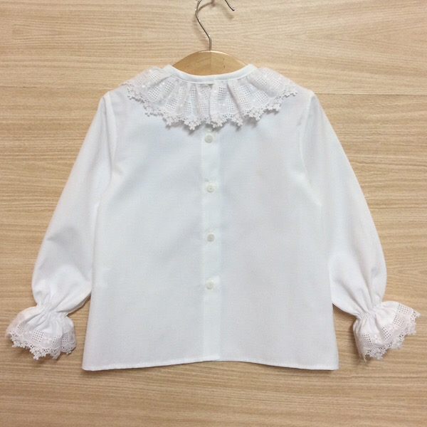 Just Lovely Lace Trim Blouse