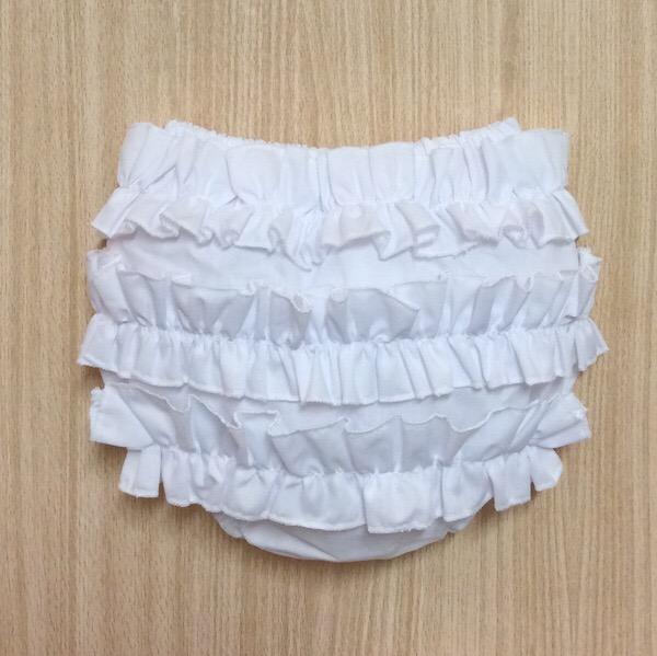 Petit Bebe White Ruffle Pants