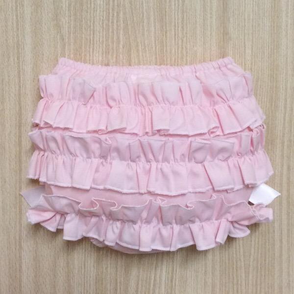 Petit Bebe Pink Ruffle Pants