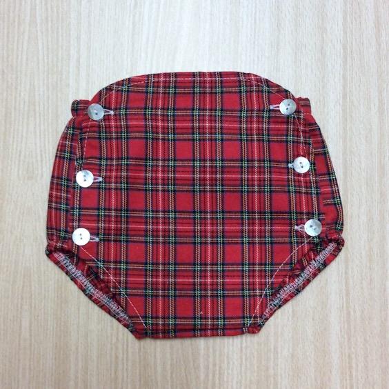 Unisex Tartan Jam Pants, Red