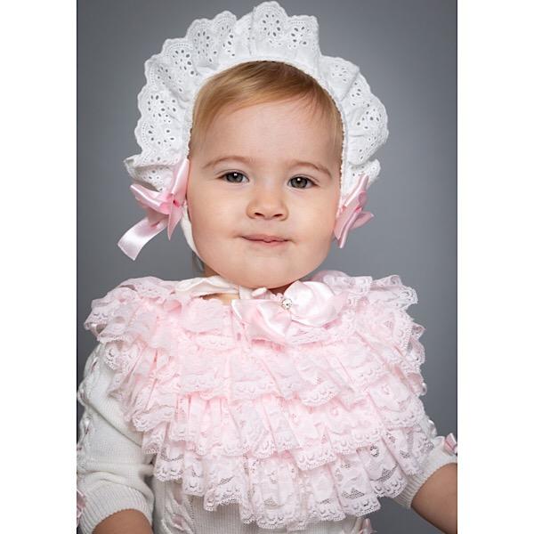 Caramelo kids Lace Bib, Pink