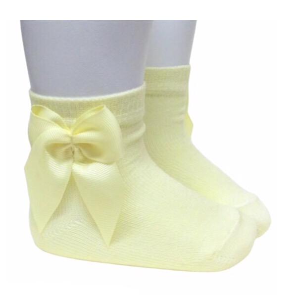 Meia Pata Lemon Bow Ankle Socks