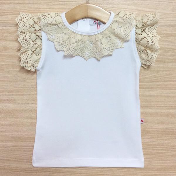Bogoleta Beige Crochet Lace Top