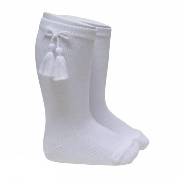 Meia Pata Tassel Socks, White